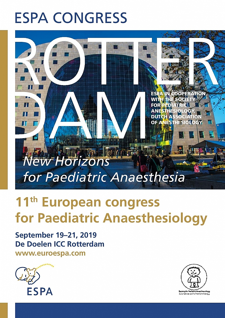 2019 Rotterdam | European Society for Paediatric Anaesthesiology