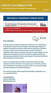Newsletters | European Society for Paediatric Anaesthesiology